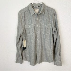 NWT Life After Denim Button Down Shirt Large